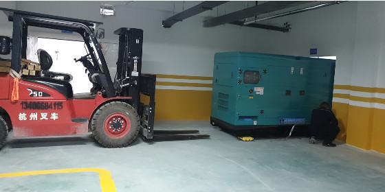 山东恒奥250KW小区备用柴油发电机组顺利发货并交付使用