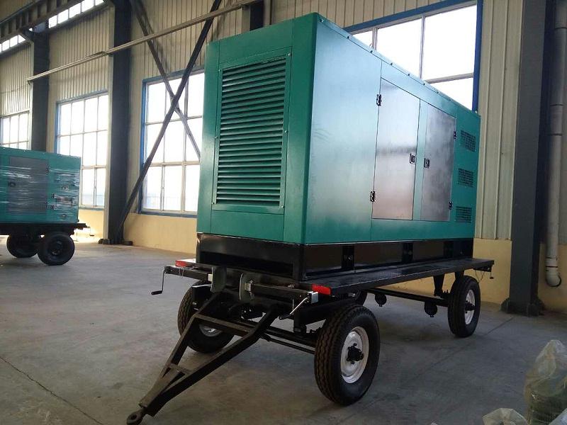 250KW移动拖车发电机组