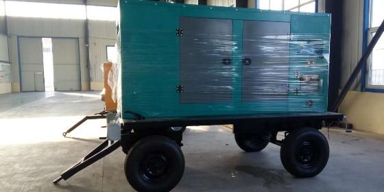 野外作业建议使用移动拖车柴油发电机组