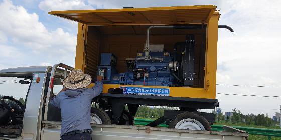 野外施工的最佳选择-拖车防雨型柴油发电机组