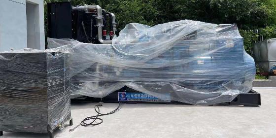山东恒奥医院柴油发电机组顺利就位安装调试