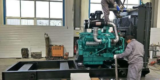 山东恒奥50KW柴油发电机组---恒奥师傅加班赶工中。。。